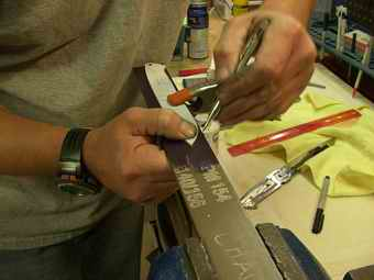 Scribing Pattern to Steel