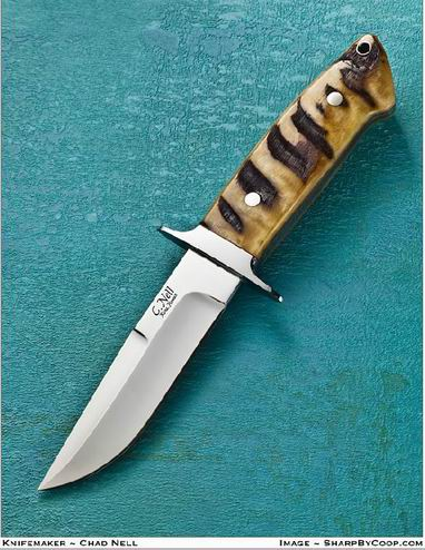 Chute Knife with Bighorn Sheep Handle