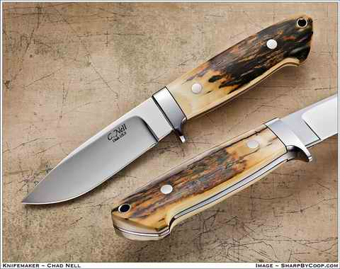 Loveless Style Drop Point Hunter with Mammoth Ivory Handle