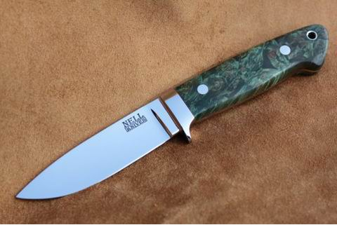 Loveless Style Drop Point Hunter with Maple Scales