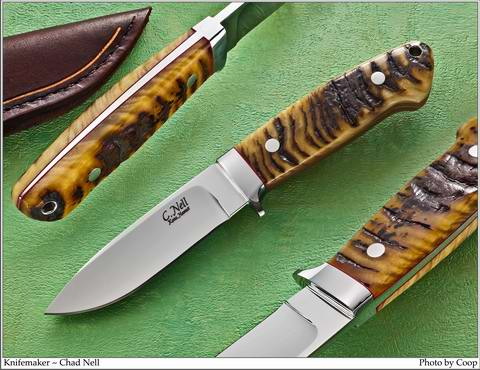 Drop Point Hunter with Big Horn Sheep Handle Scales